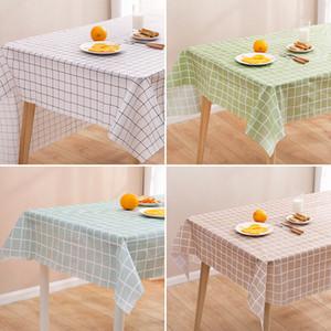 Nordic Gitter ölfeste Tischdecke wasserdicht Einweg-Tischdecke PEVA Tischdecke ölundurchlässig Tischmatte für Rechteck und runden Tischen