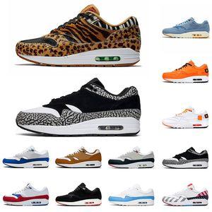 Nike Air Max 1 x Atmos Animal Pack 3.0  Scarpe da ginnastica Atmos x Air 1s Animal Pack 3.0 Elephant Parra prodotto What the Print Sports Designer Sneakers 36-45