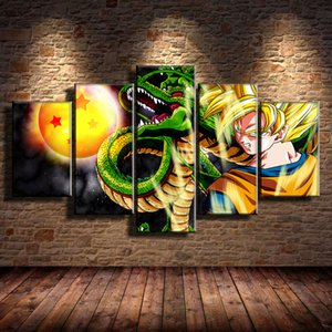 Goku Dragon Ball Z Beautiful Anime,5 Pieces HD Canvas Printing New Home Decoration Art Painting  Unframed   Framed