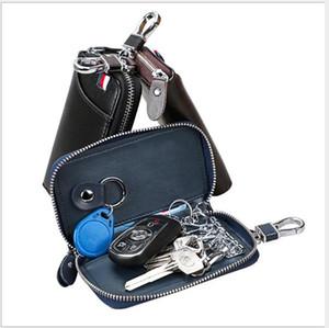 2020 new 3 colors Men's leather key case Zipper car key case business car key case