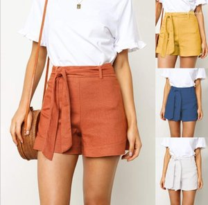 with Ribbon Summer Women Designer Clothes Fashion Designer Womens Shorts Casual Solid Color High Waist Loose Pants