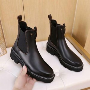 2020 Nueva BEAUBOURG botines Mujeres Moda Martin botas de cuero del diseñador de invierno caja de botas de alta calidad con el tamaño los EEUU 5-10