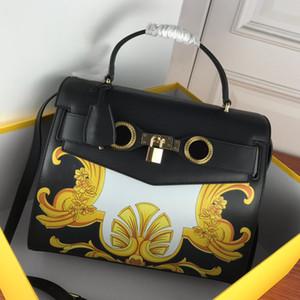 Borse borse Genuine Borse in pelle Borsa Tote Bag Fashion di alta qualità Patchwork Color Grande Capacità Crossbody Bag Spedizione gratuita HASP Lock