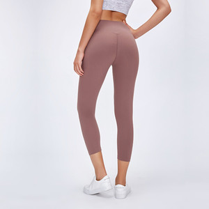 Klasik 3.0Version Spor Spor Capri Pantolon Kadınlar Çıplak hissi Squatproof Kamuflaj Gym Yoga kırpılmış Tayt