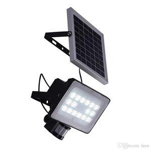30W Panneau solaire LED Projecteurs IP65 Jardin Lumière de sécurité PIR détecteur de mouvement solaire Lampes de jardin Éclairage extérieur étanche