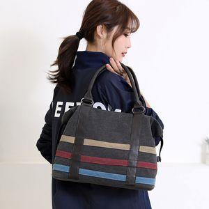 High Capacity Canvas Quality A Female Stripe Bag For Handbags Bag High Women Shoulder Crossbody Sac Messenger Main Badam