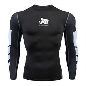 Piombo Running Uomo Camicia 3D Stampa Fitness palestra MMA Rashguard T-shirt di marca Bodybuilding allenamento Maglie a manica lunga Top in corso