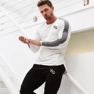 Nouveau manches longues Chemise sport hommes rapide T shirt de course Hommes Dry Fitness Collants de sport de formation t-shirt Compression Top Rashgard