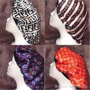 Diseñador Durag mujeres musulmanes estiramiento del sueño turbante sombrero de la bufanda sedosa capo Chemo Gorros Caps cáncer Headwear abrigo de la cabeza accesorios para el pelo