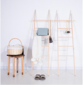 Bathroom towel rack Nordic style ins simple wall landing ladder storage clothes hanging silk scarf decoration photography props