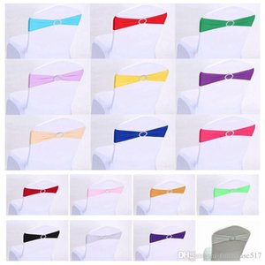 chair elastic sashes Stretch Wedding Chair Bands with buckle slider sashes bow chair back decoration Wedding Party