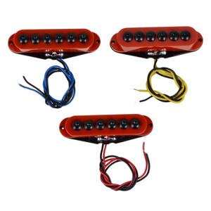 1 Set Single Coil captador do braço Oriente Ponte Pickups Red para Stratocaster da guitarra elétrica Parts
