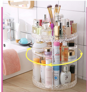 360 Degree Rotating Cosmetic Makeup Organizer Storage Box Shelf Display Acrylic