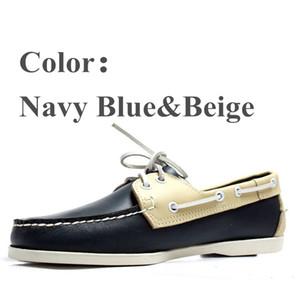 Первый слой воловьей кожи мужская повседневная кожаная обувь Docksides палуба мокасины лодка мокасины обувь вождения мода унисекс обувь ручной работы