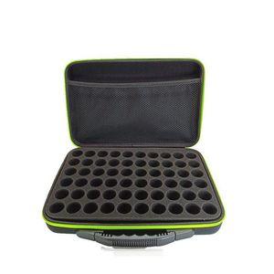 60 Compartimentos Essential Oil saco de armazenamento portátil de viagens Frasco de petróleo essencial Organizador Mulheres Perfume Coleta Caixa