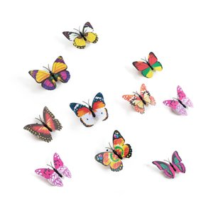 10pcs Butterfly Wall Stickers Night Lights Decorazione della casa