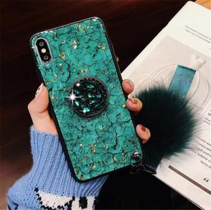 Роскошный алмазный держатель Marble Glitter bling чехол для телефона для iphone xs xr xs max 8 plus 7 7plus