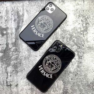 Diseñador de caja del teléfono para 2019 nuevo iPhone 11 / 11Pro / MAX 11Pro Moda Negro Cubierta trasera protectora de lujo anti-caída caso de la alta calidad