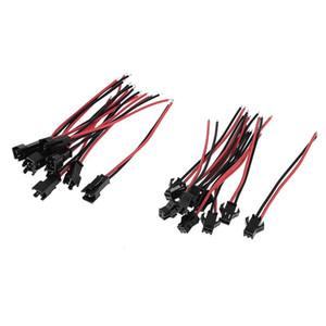 100 Paare 2pin JST Verbindungsstück 2Pin SM LED Streifenverbindungsstück ROT Schwarzes Kabel für 5050 3528 einzelne Farbe LED Streifen Downlight 10cm 15cm