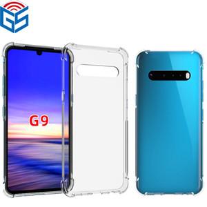 Für LG G9 G7 G8 G8s G8x ThinQ Kristall Case Antiklopf-Rand-Art transparenten weichen TPU Handy-Abdeckung