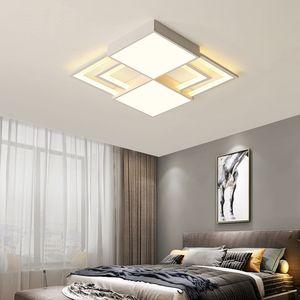 Branco praça moderna levaram luzes de teto iluminação interior metal + luz de teto de acrílico para o quarto lâmpada do teto luminária plafonnier RW55