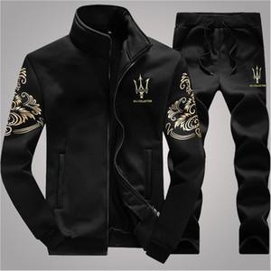 new Men Tracksuit Sweat Suits Autumn Brand Mens Jogger Suits Jacket + Pants Sets Sporting Suit Hip Hop Sets High Quality