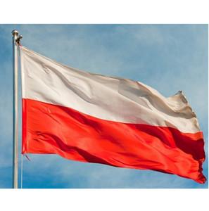 x 150cm 90 Bayrak Polonya 3x5 ft Polonya Bayrağı Banner Polonya Ülke Milli Bayrakları Uçan Yüksek Kalite Polyester Baskılı Asma