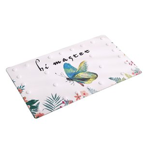 Bath Mat Multifunctional Practical Anti Slip PVC Shower Pad Suction Cup Gift Bathroom Eco-friendly Soft Decorations Rectangle
