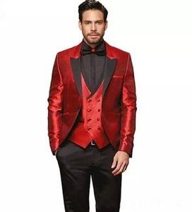 Casual Business Men's Suit 2019 New Suit Men's Slim Wedding Dress Groom Terno Masculino 3 pieces (jacket + pants + vest)