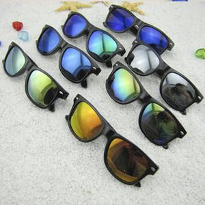 Retro güneş gözlüğü moda çocuklar yaz gözlük AAA1824 UV400 Çocuklar Sunglasses yansımalı ayna çocuk güneş gözlüğü çocuk