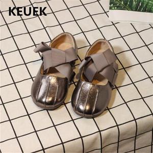 New Children Bow Chaussures bébé enfant en bas âge Mode Robe Chaussures Filles Princess Party Danse en cuir pour enfants étudiants Flats 018