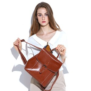 High Quality Best Price ! Original Design Genuine leather women bag lady backpack luxury famous fashion Springs Palm School Bags travel bags