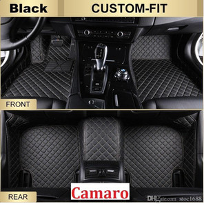 SCOT All Weather Leather Car Floor Mats for Chevrolet Camaro Waterproof Anti-slip 3D Front & Rear Carpet Custom-Fit Left-Hand-Driver-Model