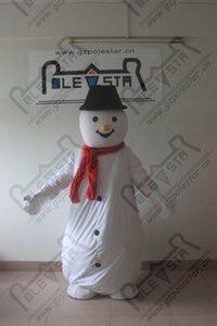 kırmızı eşarp kar adam maskot kostümleri Noel kardan adam kostümleri tatil parti kostüm DİREK YILDIZ maskot kostüm