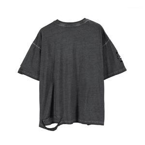 Lässige Kleidung Mens-Sommer-T-Shirts der Männer Designer-Loch-Art-T-Shirts Short Sleeve Solid Color Homme Kleidung Mode