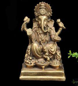 Abrindo Pure Nose Copper Elephant God of Wealth
