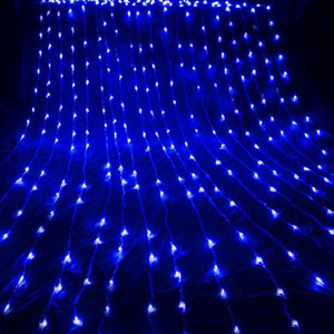 3X3M 6X3M Waterfall Waterproof Meteor Shower Rain LED String Light Christmas Wedding Curtain Icicle Fairy String Garland Y200603