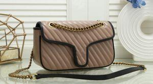 대형 : 26cm 최고 최상의 품질 여자 핸드백 새로운 골드 체인 스트랩 토트 백 어깨 가방 크로스 바디 백 여성 메신저 가방 지갑