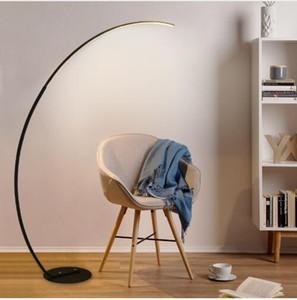 Slim tasarım uzun kollu uzun kollu LED zemin lambası Uzaktan kumanda ile siyah veya beyaz / kısılabilir LED