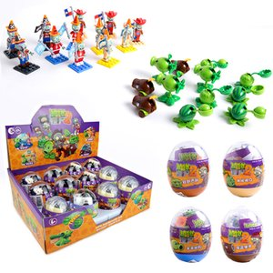New Game Plants vs Zombies Figures ABS PVZ Peashooter Building Blocks Egg Toys Children Educational Toys Birthday Gift