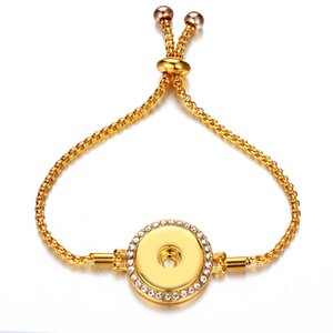 Bouton Bracelets Bracelet en métal Fit DIY pression bijoux pour femmes de luxe Bijoux Bracelets de chaîne réglable