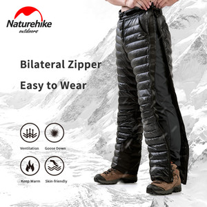 Naturehike Winter -5°C~ -20°C Down Pants Outdoor Camping Double Side Zipper 20D Nylon Waterproof Wear Men Women Warm Pants