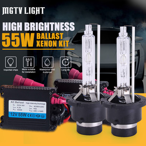MGTV LIGHT 55W HID Xenon Kit Car Headlight Bulb H1 H7 H11 9006 HB3 H27 D2S 9012 H4 Bi-Xenon с Тонкий Балласт 4300k 6000k 8000k