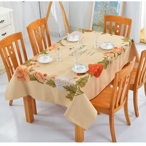 Rural Style Tablecloth Cotton Linen Table Cover Home Wedding Party Deco PICK