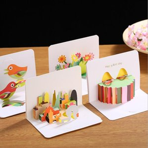 Creativ Three-Dimensional Creative 3D Greeting Card Valentine's Day Card Thanks Card Children's Birthday Gift Free Shipping