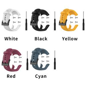 Quick Release Мягкий силиконовый водонепроницаемый спортивные полосы для Suunto 5 Rubber Band браслет ремни