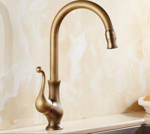 جديد تصميم سطح شنت صنبور المطبخ النحاس العتيقة مع إمدادات المياه الباردة والساخنة / الحنفيات الاستحمام الأخرى accs