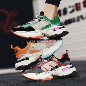 VSIOVRY otoño hombres populares zapatos gruesos cordones de las zapatillas de deporte de los hombres respirables s papá de calzado casual grueso bottom002 Cojín Ruta SneakersL24
