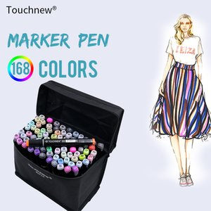 TOUCHNEW 80 컬러 프로페셔널 예술 마커 세트 스케치 마커 듀얼 향하고 만화 낙서 펜 그리기 미술 용품 페인트