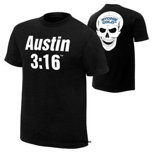 Komik Erkekler t gömlek beyaz tişört tişörtleri Siyah tişört Otantik Erkek Stone Cold Steve Austin 316 Retro Tişört